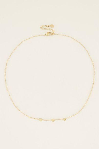 Ketting drie hartjes, minimalistische ketting My Jewellery