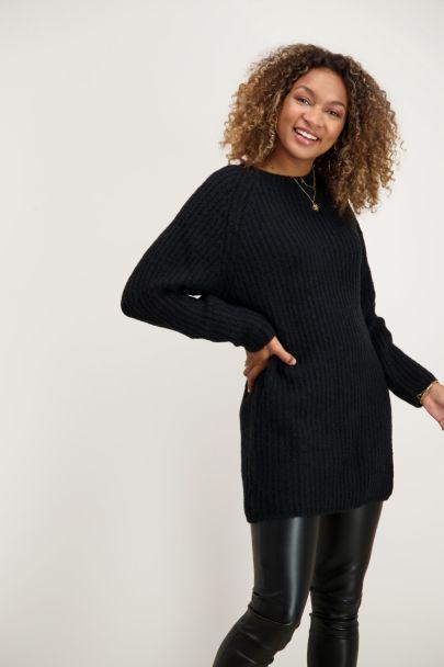 Zwarte lange trui