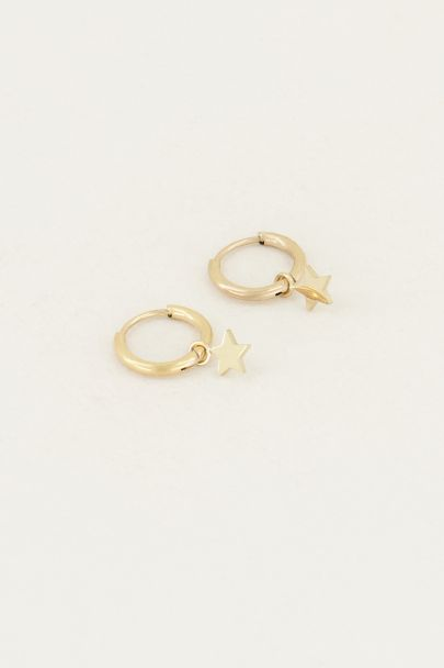 Oorringen met sterretjes | Sterretjes oorbellen My Jewellery