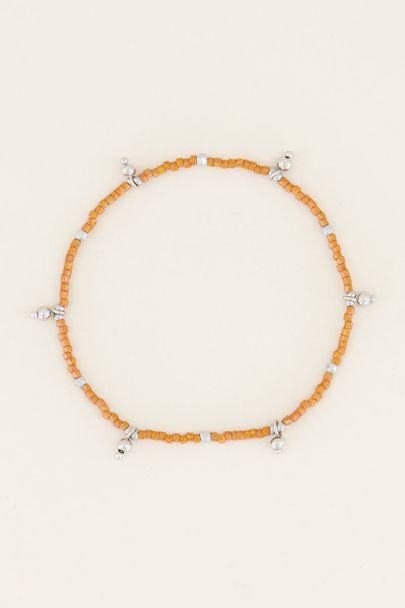 Armband mit orangefarbenen Perlen| Perlenarmband bei My Jewellery