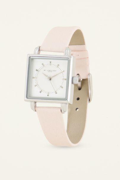 Beige horloge vierkant | My Jewellery