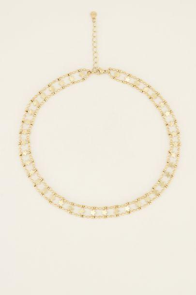 Choker dubbele muntjes & sterren | My Jewellery