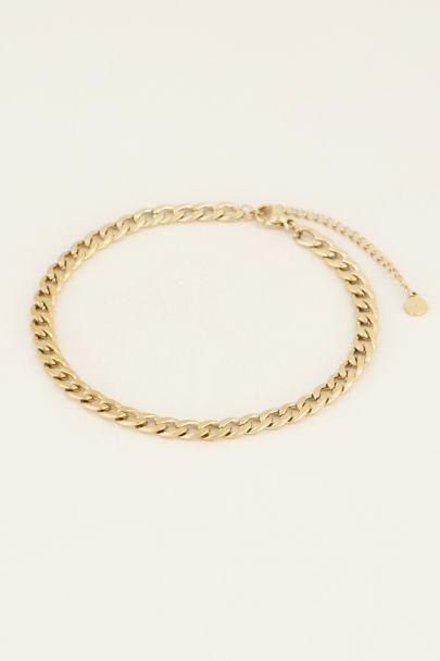 Enkelbandje schakels | Gouden enkelbandje | My Jewellery