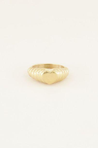 Ring hartje geribbeld | Ringen | My Jewellery