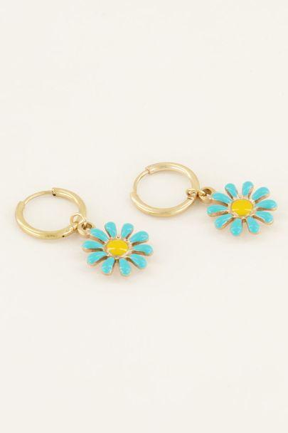 Oorringen groene bloemetjes | My Jewellery
