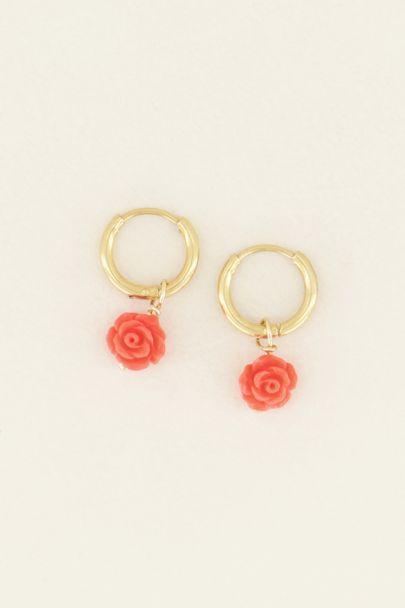 Rode oorbellen | Oorbellen rode roosjes | My Jewellery