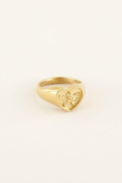 Zegelring engeltje   Zegelringen   My Jewellery
