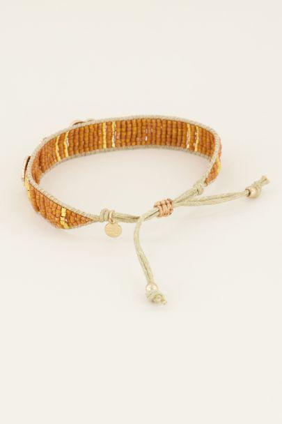Oranje armband bedels & kraaltjes