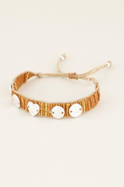 Oranges Armband mit Anhängern und Perlen| My Jewellery