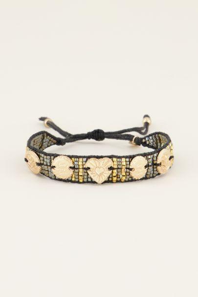 Zwarte armband bedels & kraaltjes | My Jewellery