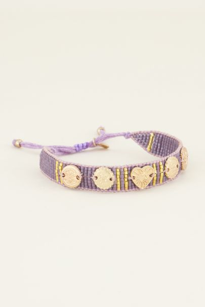 Lilac bracelet with charms & beads | My Jewellery