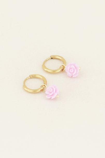 Lilac earrings | Earrings with roses | My Jewellery