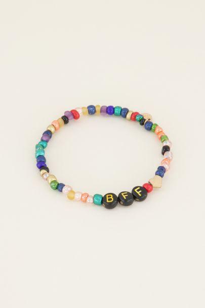 Groen kralenarmbandje bff | Kralenarmbanden | My Jewellery