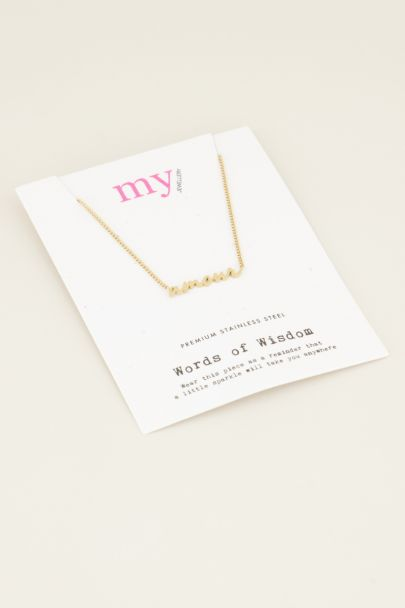 Ketting amour | Roestvrij stalen ketting | My Jewellery
