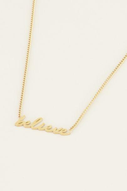 ketting believe | Roestvrijstalen ketting | My Jewellery