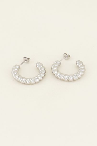 Large twisted ball earrings