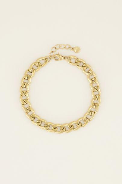 Armband platte schakels | Armbanden | My Jewellery