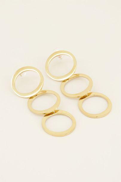 Oorbellen drie rondjes | My Jewellery