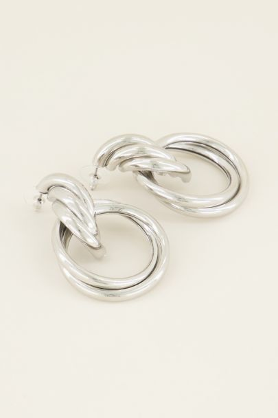 Oorhangers met grote ringen, oorstekers | My Jewellery