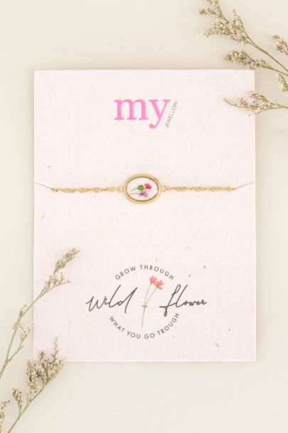 Armband wildflower ovaal | My Jewellery