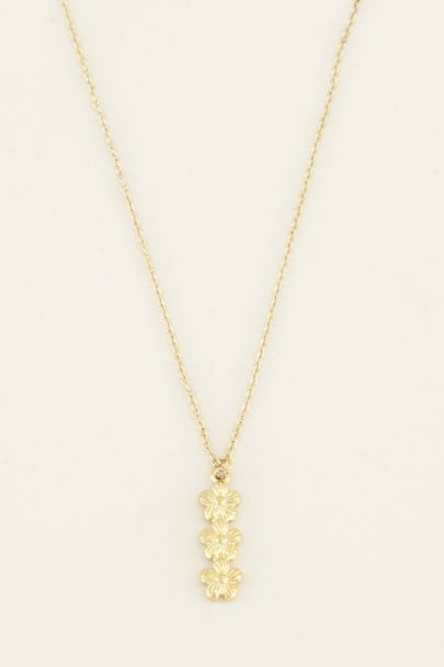 Necklace with three flowers | Necklaces | My Jewellery