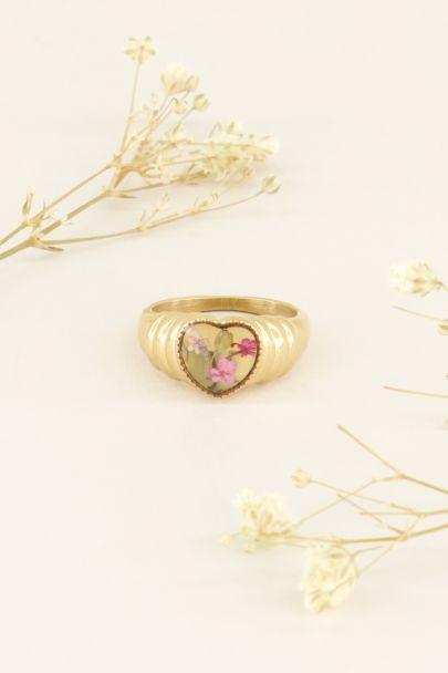 Ring wildflower hartje | Ringen | My Jewellery
