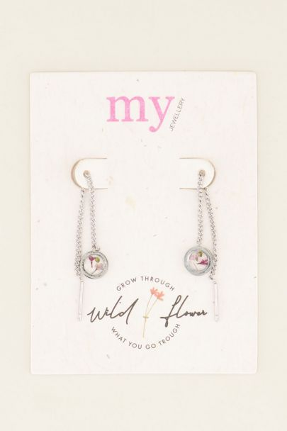 Wildflower threader earrings
