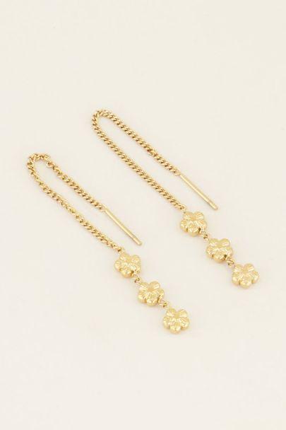 Oorhangers drie bloemetjes | My Jewellery