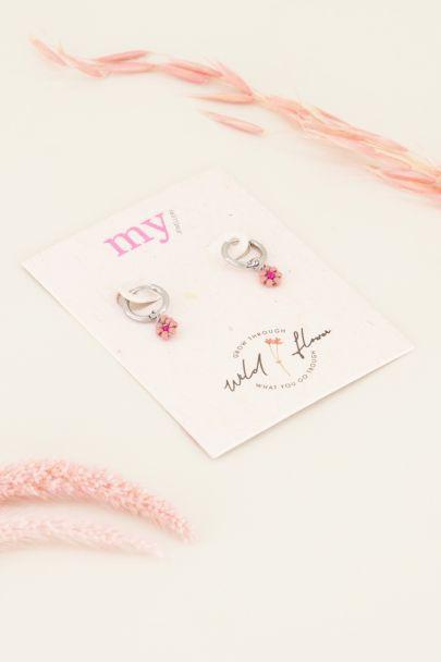 Oorbellen met roze bloemetjes | Oorbellen | My Jewellery