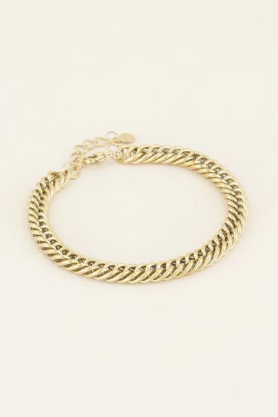 Armband brede schakels | Shop bij My Jewellery