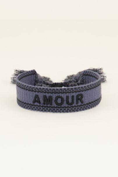 Donkerblauw bohemian armbandje amour | Armbandjes | My Jewellery