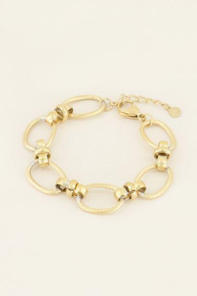 Armband grove ovale schakels   My Jewellery