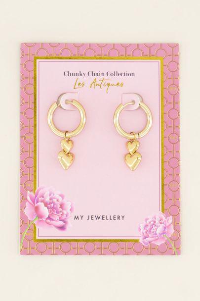 Oorringen dubbel hartje | My Jewellery