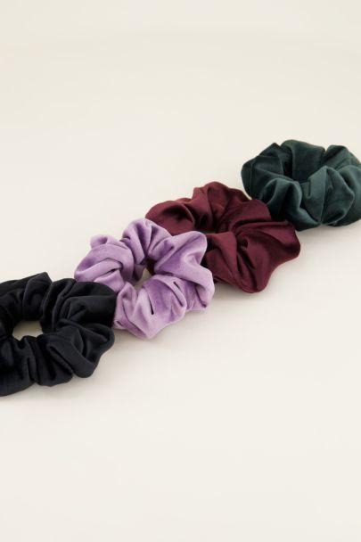 Zwarte scrunchie velvet