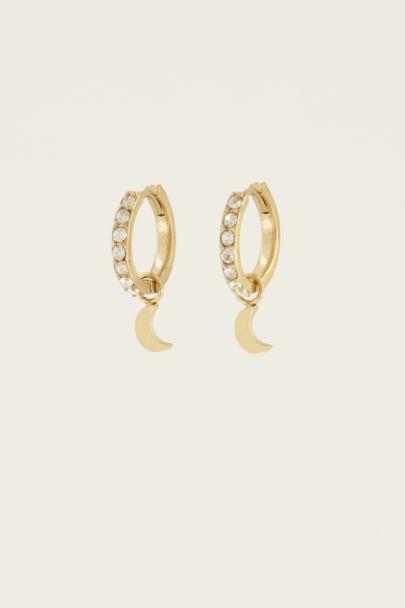 Oorringen maantje & strass | My Jewellery