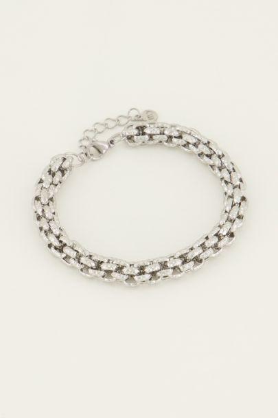 Armband chunky schakels motief | My Jewellery