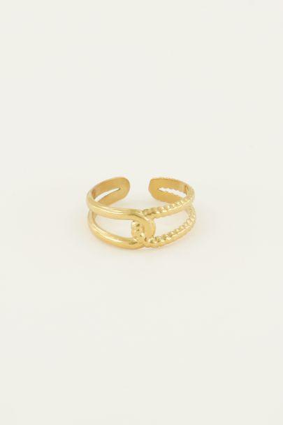 Ring in elkaar gedraaid | My Jewellery