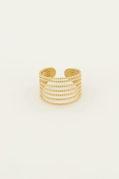 Ring lagen bolletjes | My Jewellery