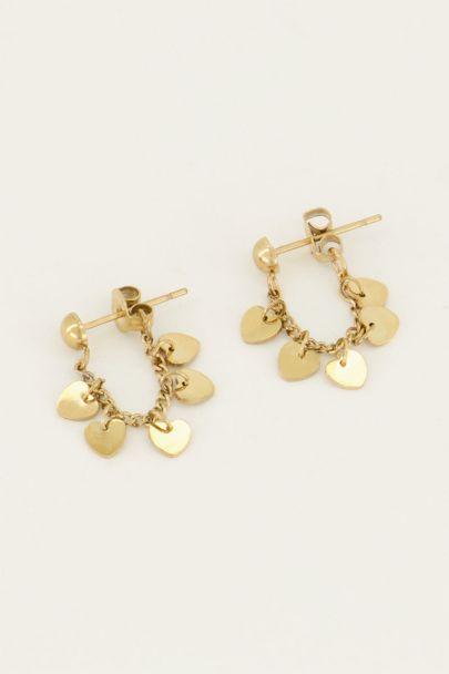 Oorbellen ketting & hartjes | My Jewellery