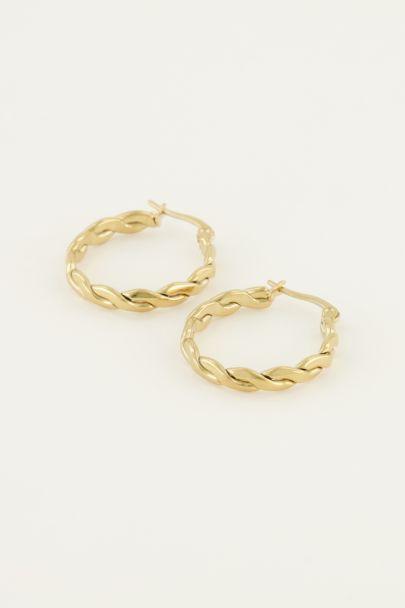 Runde Ohrringe mit Seilmuster| My Jewellery