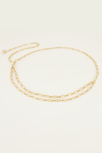 Goudkleurige ketting riem ovale schakels | My Jewellery