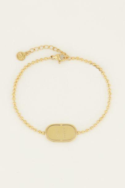 Armband love plaatje | My Jewellery