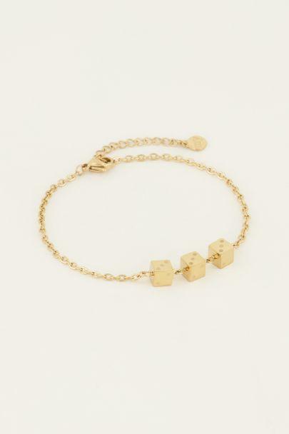 Armband drei Würfel| My Jewellery