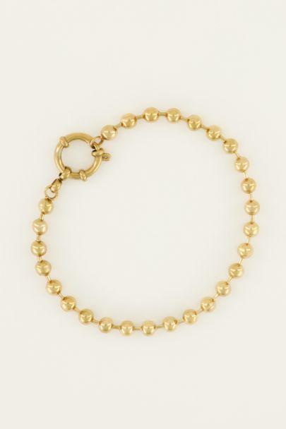 Armband bolletjes met ronde sluiting | My Jewellery