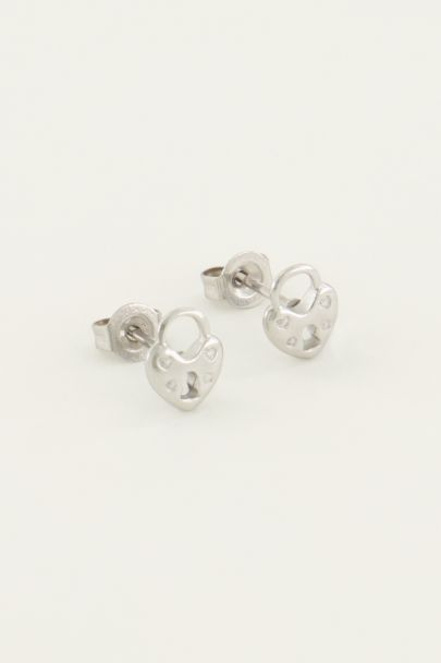 Studs hartjes slot | My Jewellery
