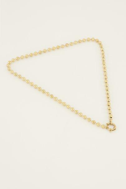 Perlenhalskette mit rundem Verschluss | My Jewellery