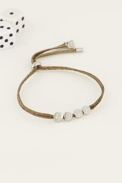 String Armband Glück| My Jewellery