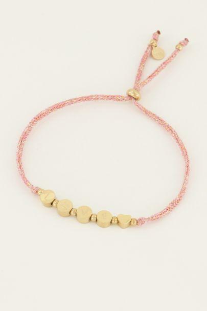 Touw armband love | My Jewellery
