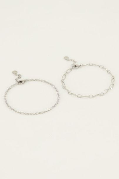 Armbandjes set van twee bolletjes | My Jewellery