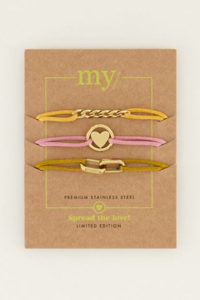 Spread the love set geel | My Jewellery